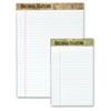 TOPS Second Nature Recycled Letter Pads, Lgl/Red Margin Rule, White, 50-Sheet, Dozen