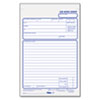 Job Work Order Pad, 5 1/2 x 8 1/2, Two-Part Carbon, 50/Pad