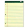 Double Docket Pad, Extra Stiff Back, Legal Rule, Letter, Canary, 100 Sheets