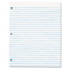 Three-Hole Punched Pad, Wide Rule, 8-1/2 x 11, White, 50-Sheet Pads/Pack, Dz.
