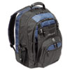 17&quot; Laptop Backpack, File Compartment, Audio Player Sleeve, Black/Blue
