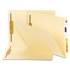B Style Fastener File Folders, Straight Tab, Letter, Manila, 50/Box