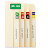Month End Tab Folder Labels, Assorted Colors, 250 per Month, 3000/Box