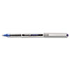 uni-ball Vision Roller Ball Stick Waterproof Pen, Blue Ink, Fine, Dozen