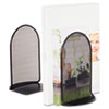 Safco Onyx Bookends, Standard, 5 1/2 x 4 3/4 x 8 1/2, Heavy Gauge Steel, Black