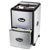 Mobile Filing Cabinet With Metal Siding, 19w x 15d x 23h, Black/Silver