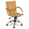 Safco Flaunt Series Mid-Back Manager's Chair, Camel Microfiber/Chrome