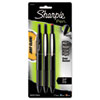 Sharpie Porous Point Retractable Permanent Water Resistant Pen, Assorted Ink, 3/Pk