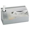Safco Countertop Hygiene Station, Silver, 11 1/2 x 5 x 5 1/2