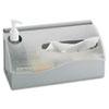 Safco Countertop Hygiene Station, Silver, 11 1/2 x 5 x 5 1/2