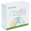 Memorex CD-RW Discs, 700MB/80min, 4x, w/Slim Jewel Cases, Silver, 10/Pack