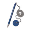 Secure-A-Pen Ballpoint Counter Pen with Base, Blue Ink, Medium