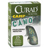 Curad Kids Adhesive Bandages, Green Camouflage, 3/4