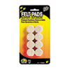 Scratch Guard Self-Stick Felt Pads, 1 Diameter, 16 Circles/Pack