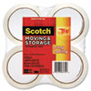 "Moving & Storage Tape, 1.88"" x 54.6 yards, 3"" Core, Clear, 4 Rolls/Pack"