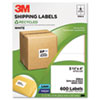 Permanent Adhesive White Recycled Mailing Labels, 3-1/3 x 4, 600/Pack