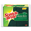 Heavy-Duty Scrub Sponge, 4 1/2&quot; x 2 7/10&quot; x 6/10&quot;, Green/Yellow, 6/Pack