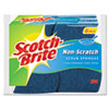 Non-Scratch Multi-Purpose Scrub Sponge, 4 2/5 x 2 3/5&quot;, Blue, 6/Pack