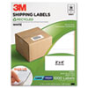 Permanent Adhesive White Recycled Mailing Labels, 2 x 4, 1000/Pack