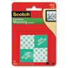 Scotch Precut Foam Mounting 1 Squares, Double-Sided, Permanent 16 Squares/Pack