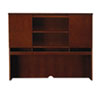 Sorrento Series Assmbld Hutch with Wood Doors, 72w x 15d x 52h, Bourbon Cherry