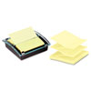 Super Sticky Pop-up Note Dispenser/Value Pack, 4 x 4 Self-Stick Notes,Black