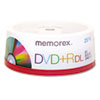 Memorex Dual-Layer DVD+R Discs, 8.5GB, 25/Pack