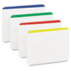 Durable File Tabs, 2 x 1 1/2, Striped, Assorted Standard Colors, 24/Pack
