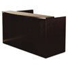 Mira Series Wood Veneer Reception Desk Shell, 72w x 36d x 43½h, Espresso