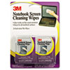 3M Notebook Screen Cleaning Wet Wipes, Cloth, 7 x 4, White, 24/Pack