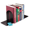 SteelMaster Fashion Bookends, 5 9/10 x 5 x 7, Black, Pair