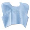 Medline Disposable Patient Capes, 3-Ply T/P/T, Blue 100/Carton