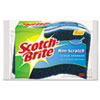 Scotch-Brite Non-Scratch Multi-Purpose Scrub Sponge, 4 2/5 x 2 3/5, Blue, 3/Pack