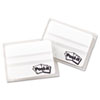 Post-it Tabs File Tabs, 2 x 1 1/2, Lined, White, 50/Pack