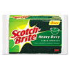 Scotch-Brite Heavy-Duty Scrub Sponge, 4 1/2 x 2 7/10 x 3/5, Green/Yellow, 3/Pack