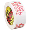 """If Seal is Broken, Check Contents"" Printed Tape, 1.88"" x 109 yards, Red/White"