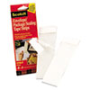 "Envelope/Package Sealing Tape Strips, 2"" x 6"", Clear, 50/Pack"