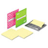 Laptop Note Dispenser, 3 x 3, Gray, Pink, Green, 3 per Pack