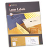 Matte Clear Laser Labels, 8-1/2 x 11, 50/Box