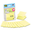 Laptop Pop-up Notes Refill, 3 x 3, Canary Yellow, 10 20-Sheet Pads/Pack