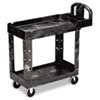 Heavy-Duty Utility Cart, 2-Shelf, 17-7/8w x 39-1/4d x 33-1/4h, Black