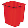 Rubbermaid Commercial Dirty Water Bucket for Wavebrake Bucket/Wringer, 18-Quart, Red