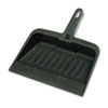 Heavy-Duty Dustpan, 8-1/4 Wide, Polypropylene, Charcoal