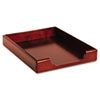 Rolodex Wood Tones Letter Desk Tray, Wood, Mahogany