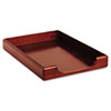 Rolodex Wood Tones Legal Desk Tray, Wood, Mahogany