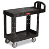 Flat Shelf Utility Cart, 2-Shelf, 19-3/16w x 37-7/8d x 33-1/3h, Black
