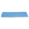 Economy Wet Mopping Pad, Microfiber, 18&quot;, Blue