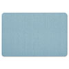 Oval Office Fabric Bulletin Board, 36 x 24, Light Blue