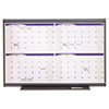 Prestige Total Erase Monthly Calendar, 36 x 24, Gray Frame