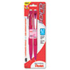 Pentel Pink Ribbon Twist-Erase CLICK Mechanical Pencil, 0.7 mm, 2/Pk